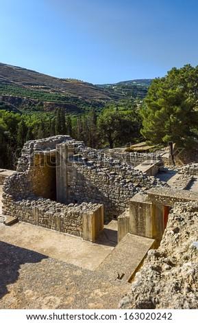 The Palace of Knossos, Crete, Greece - stock photo