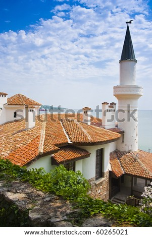 The Palace of Roman Queen In Balchik, Bulgaria - stock photo