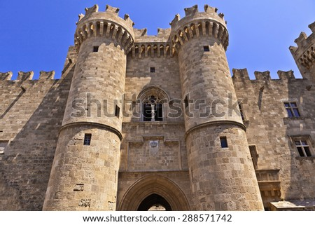 The Palace of the Grand Master of the Knights of Rhodes. - stock photo