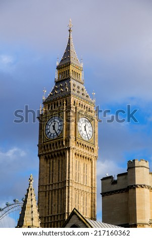 The Palace of Westminster Big Ben, London, England, UK - stock photo