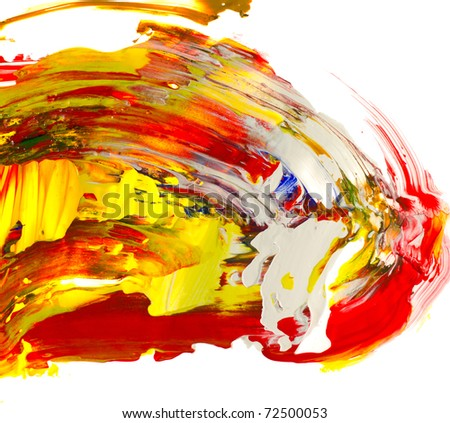 The palette of colors - stock photo