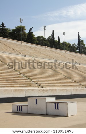 The Panathenaic Stadium is an athletic stadium in Athens that hosted the first modern Olympic Games in 1896. Reconstructed from the remains of an ancient Greek stadium, one of the oldest in the world.