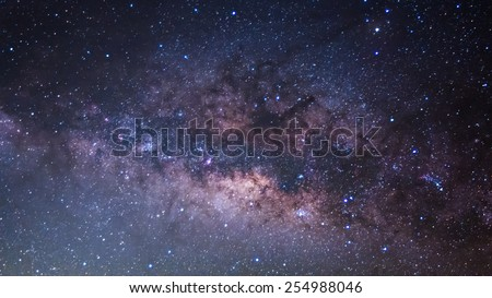 The Panorama Milky Way ,Long exposure photograph. - stock photo
