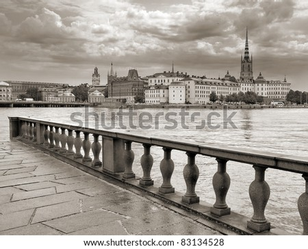 The panorama of Stockholm, Sweden. - stock photo