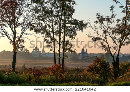 The panorama of the city of Suzdal, Russia - stock photo