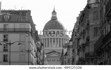 The Pantheon is a secular mausoleum containing the remains of distinguished French citizens.Located in 5th arrondissement of Paris on the Mountain Saint Genevieve, it looks out over all of Paris.