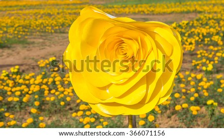 The paper flowers. - stock photo