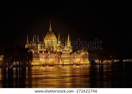The parliament building Budapest, Hungary - stock photo