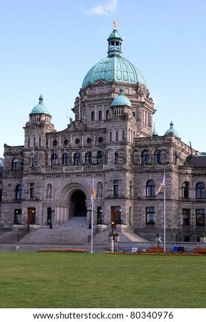 The Parliament Building in Victoria B.C., Canada - stock photo
