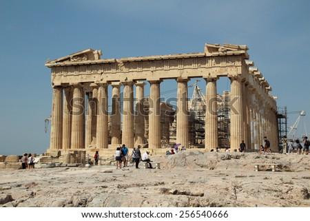 The Parthenon, The Acropolis of Athens, Greece - stock photo