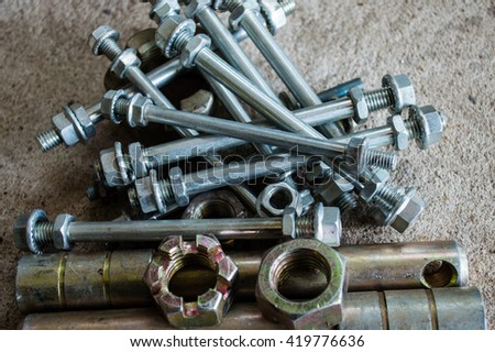the parts in car - stock photo