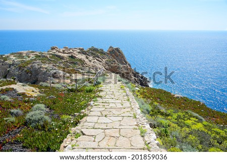 The path to paradise, Giglio Island, Italy - stock photo