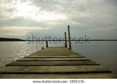 The path to the sea - stock photo