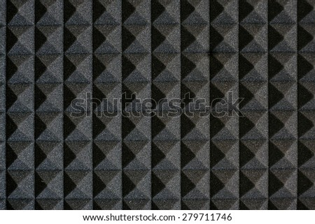 The pattern of the soundproof panel of polyurethane foam. - stock photo