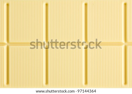 the pattern of white chocolate - stock photo