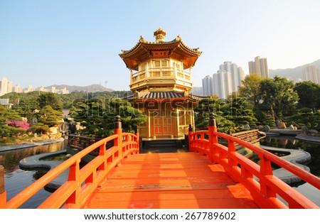 The Pavilion, Nan Lian Garden, Hong Kong - stock photo