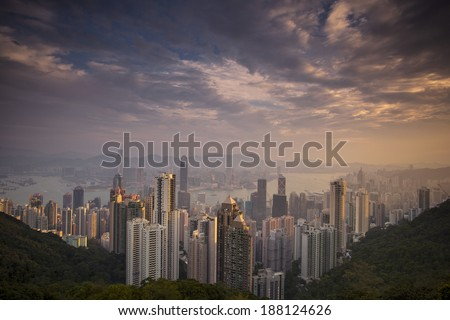 The Peak, Hong Kong - stock photo
