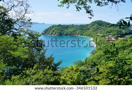 The Peninsula Papagayo in Guanacaste, Costa Rica - stock photo