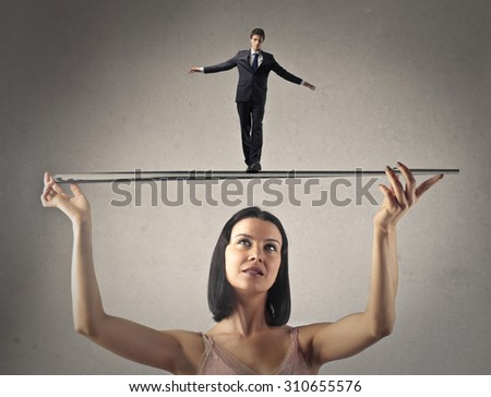 The perfect balance - stock photo