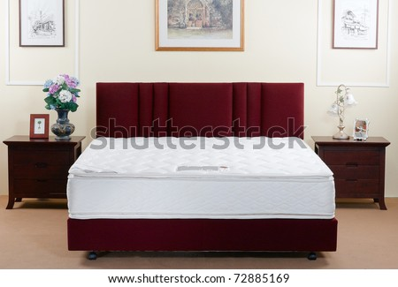 The perfect mattress not only beautiful but must be supported anatomy when you sleep - stock photo