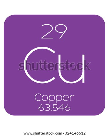 The Periodic Table of the Elements Copper - stock photo