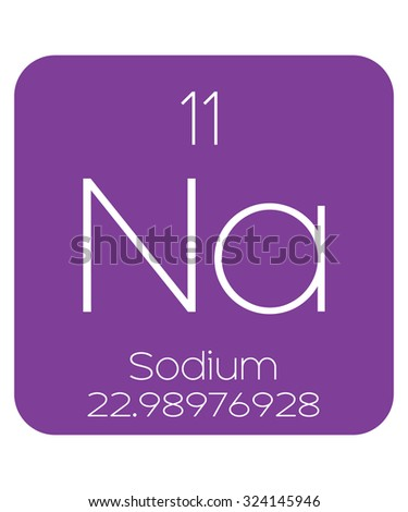 The Periodic Table of the Elements Sodium - stock photo
