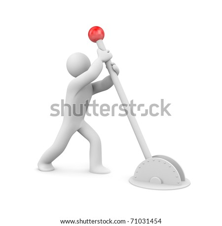 The person switch something - stock photo
