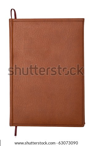 the personal organizer isolated on white background - stock photo