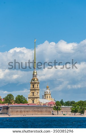 The Peter and Paul Fortress in Saint Petersburg. - stock photo