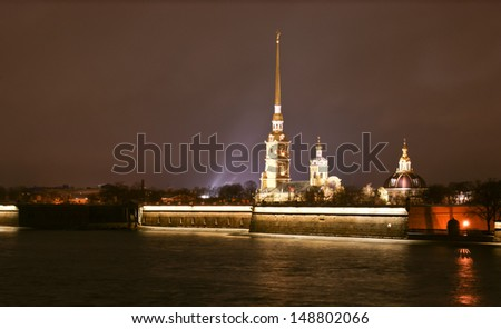 The Peter and Paul fortress on the hare island, St. Petersburg, Russia.