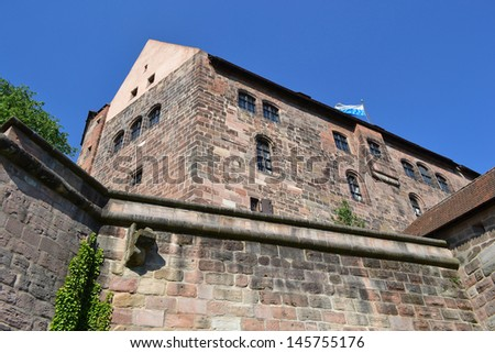 The photo of Castle of Nuremberg Bavaria Germany - stock photo