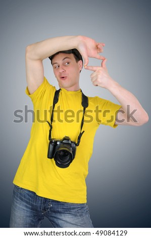 The photographer - stock photo