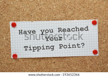 """tipping point macolm thesis Free essay: the tipping point by malcolm gladwell looks at a number of social epidemics and analyzes their build up to the point where they tip """"tipping"""" is."""