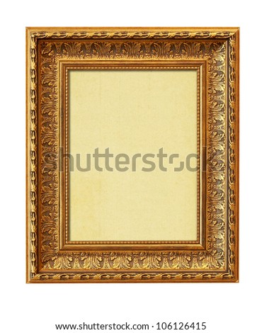 The picture frame isolated on white