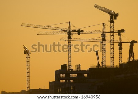 The picture of building site