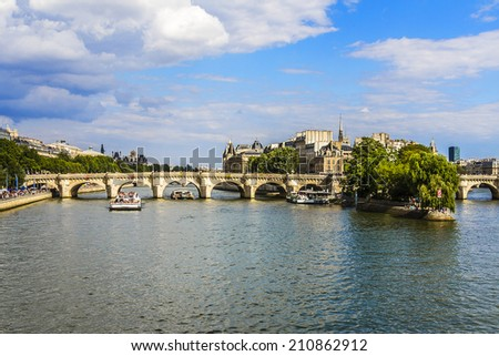 The picturesque embankments of the Seine in Paris, France.