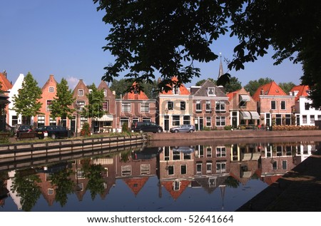 The picturesque fishing village of Spaarndam, the Netherlands