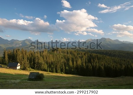 The picturesque scenery in the Tatra Mountains. - stock photo