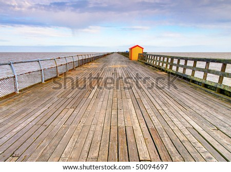The pier at Walton-on-the-Naze, Essex. The second longest pier in Britain. - stock photo