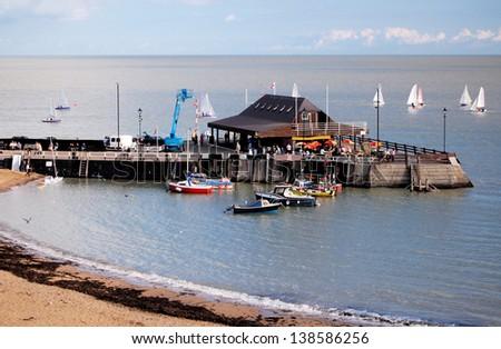 The Pier, Broadstairs, Kent, England, UK - stock photo