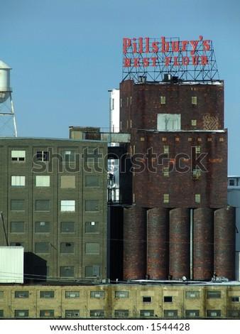 The Pillsbury mill in Minneapolis Minnesota - stock photo