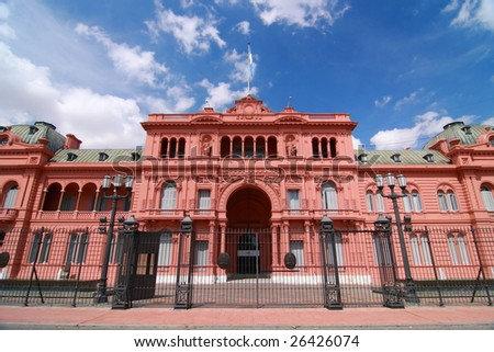 The Pink House - stock photo