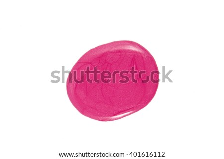 the pink nail polish isolated - stock photo