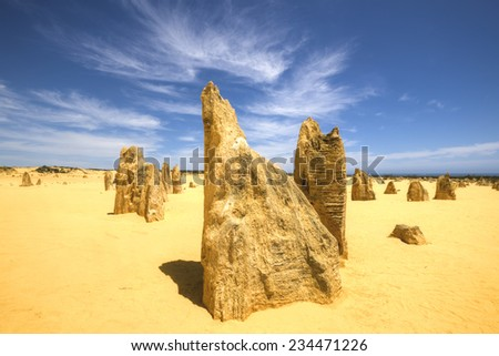 The Pinnacles at Western Australia - stock photo
