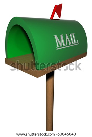 The place for the letter - stock photo