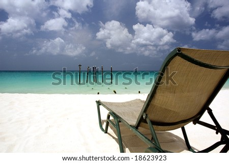 The place in the sun. - stock photo