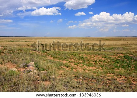The plains near Fort Union National Monument - stock photo