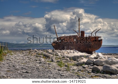The Plassey  wreck at Inisheer Island in Ireland.