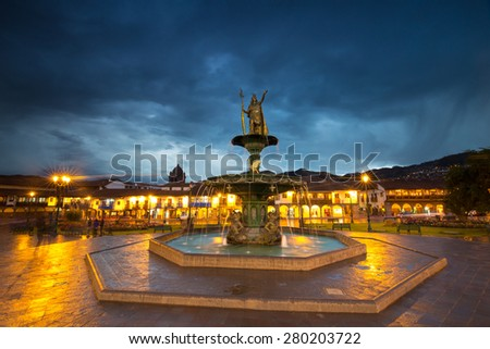 The Plaza de Armas, Cusco, peru - stock photo