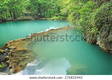 The plenty of forest and water at Than Bok Khorani National Park, Formerly known as Than Asok due to its location where Asok trees or Asoka were previously grown, Krabi Province, Thailand